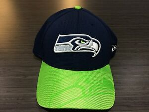 4f35816c5 Cap Hat Seattle Seahawks New Era 2016 NFL Sideline 39thirty Flex Fit ...
