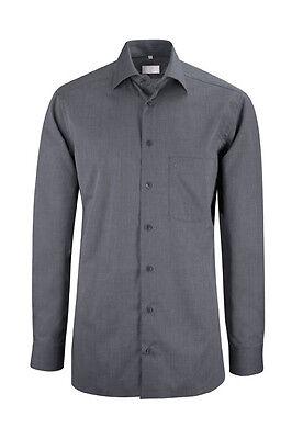 Nett Greiff Herren-hemd 1/1 Regular 6610 Anthrazit-mix Gr 41/42 L Neu Business & Industrie