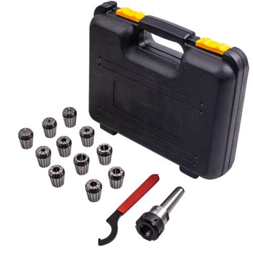 "BOX Precision ER32 Collet 11PCS+MT3 Shank Chuck /& Spanner For Milling 1//8/""-3//4/"""