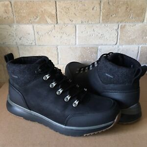 ecaa5c2ea92 Details about UGG OLIVERT BLACK WATERPROOF LEATHER WOOL HIKER SNOW BOOTS  SHOES SIZE 7 MENS