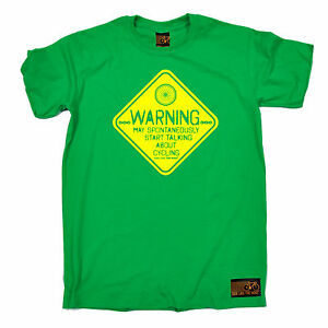 Warning-May-Talk-Cycling-T-SHIRT-tee-jersey-funny-birthday-gift-present-for-him