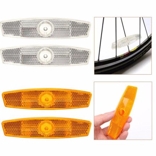 1 Pair  Warning Lights Wheel Reflective Bike Bicycle Mountain Spoke Reflector