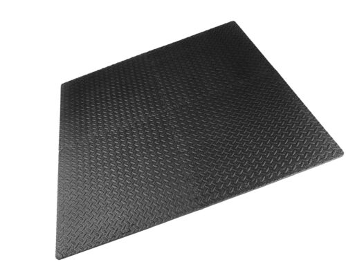 Puzzle Tapis Exercice Outils Gym équipement Protecteur De Plancher Entraînement mousse Carreaux Noir