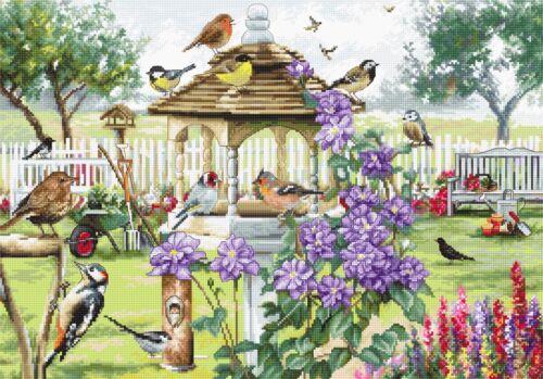 NEW ARRIVAL LETI 944 Bird Table Cross Stitch Kit LetiStitch