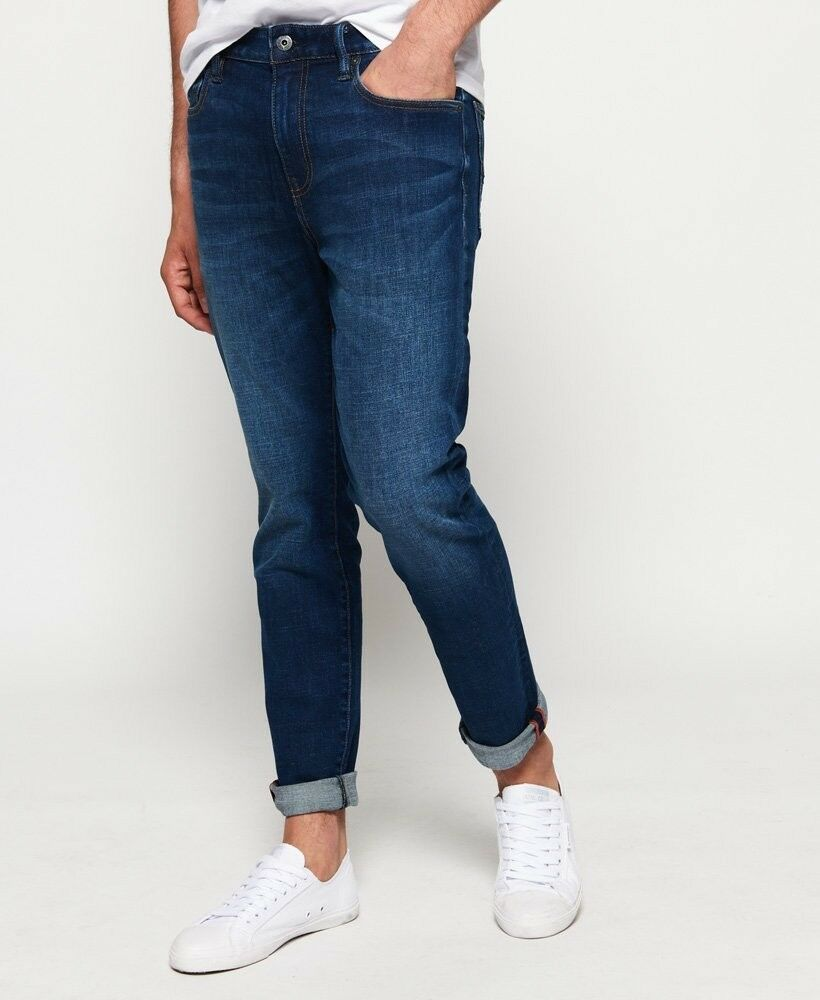 2583d60a Men's Slim Tyler Jeans Size 30W32L Colour Union Dark bluee Superdry  nqriyh4081-Jeans