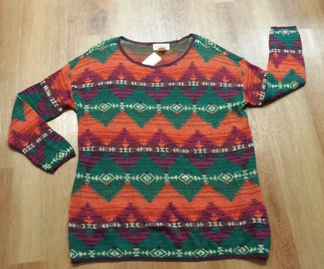 Denim & Supply Ralph Lauren Women Southwestern American Indian Relaxed Sweater L