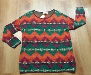 Denim-amp-Supply-Ralph-Lauren-Women-Southwestern-American-Indian-Relaxed-Sweater-L