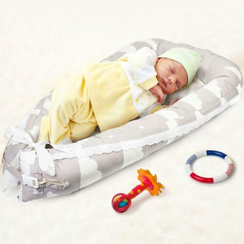 Baby Nest Pod Cocoon Newborn Infant Sleep Cushion Bed Mat Adjustable Straps
