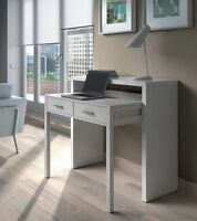 Ambra White Dressing Table Console Table Computer Desk Extending Furniture