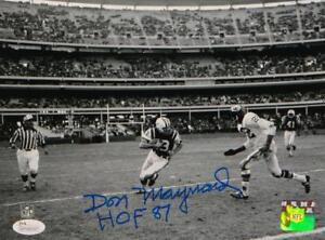 Don-Maynard-Autographed-8x10-NY-Jets-Against-Chiefs-Photo-W-HOF-JSA-W-Auth