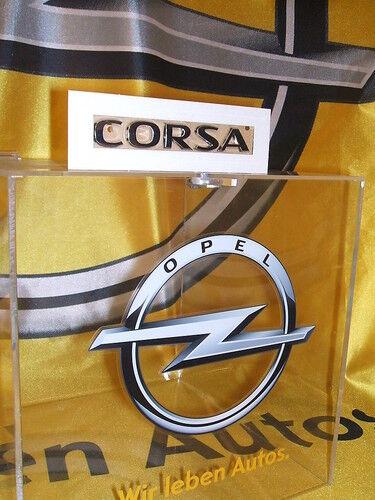 """Original Opel Schriftzug Aufkleber /"""" CORSA /"""" 5177440 93188809 Neu!!!"""