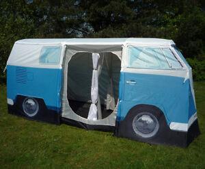 Image Is Loading VW Camper Van Tent Volkswagen Bus Camping Blue