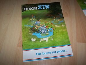 Catalogue / Brochure Tondeuse DIXON ZTR 1989 //