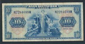 FR-of-Germany-Rosenbg-258-Kenn-Bst-N-used-III-1949-10-German-Mark-8590300