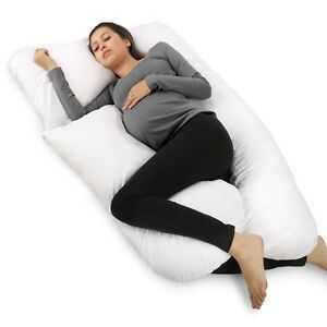 PharMeDoc Full Body Pillow, U Shaped Pregnancy Pillow & Maternity Support
