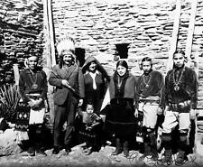 Old Photo. Albert Einstein & Native American Indians