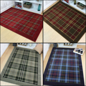 Quality-Traditional-Tartan-Design-Rug-in-Various-Colours-and-Sizes-Carpet