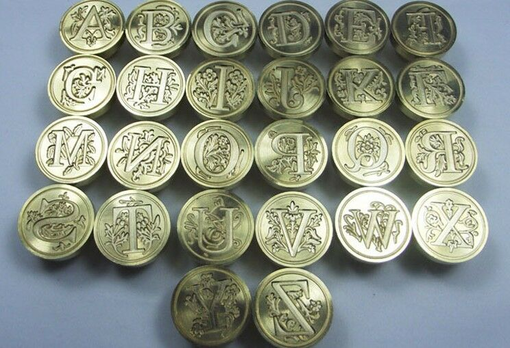 Wax Sealing Stamp Seal Maker Vintage Classic Antique Initial Letter Set Brass D