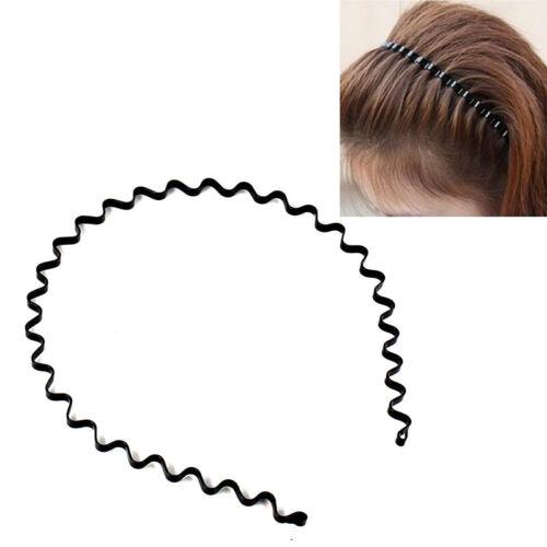 10 Stück Unisex Biker Haarband Lady Schwarz Sport Haarband Hood Wave Stirnband