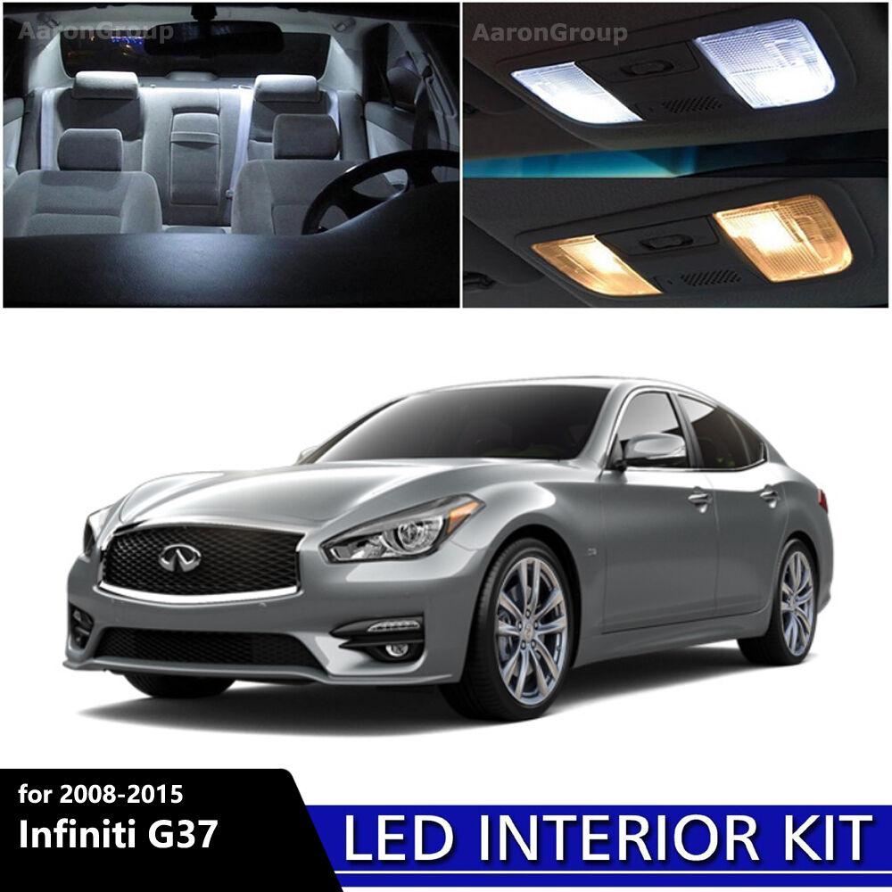 Infiniti G37 S For Sale: 15PCS White Interior LED Light Package Kit For 2008-2015