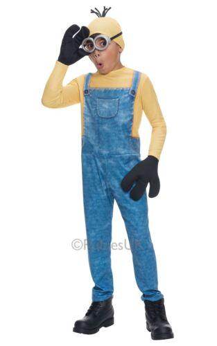 Minion Kevin Boys Costume Despicable Me Kids Fancy Dress Child Outfit