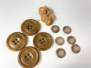 15-Hole Bakelite Button Cream Corn Yellow