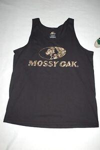 1b1da52239b934 Mens MOSSY OAK TANK TOP Black w  Camo Lettering   Logo SIZE XL 46-48 ...