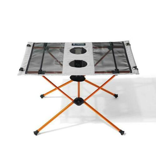 HELINOX TABLE  Light Weight Camping Table Grey//Orange