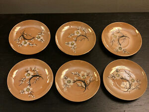 9 Antique Japan Japanese Lusterware Mini Plates Mamezara ~ Cherry Blossom