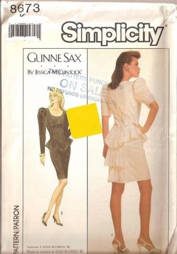 Vintage Gunne Sax  70s 80s Simplicity Sewing Pattern Misses Size You Pick