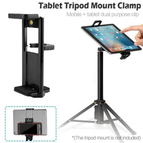Pro 1//4/'/' Thread Tripod Mount Holder Stand Bracket Adapter clip For iPad Tablet