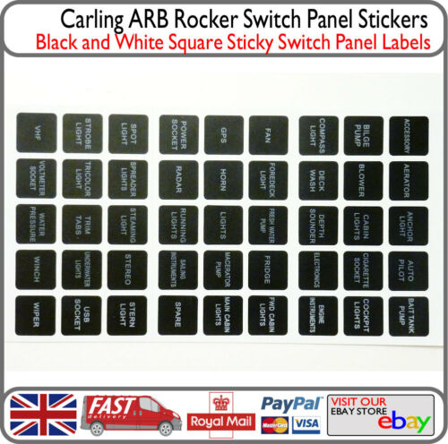 Switch Labels Panel Stickers Instrument Board Fuse Box Decal Labels 12v Boat Van