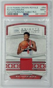 2019 Crown Royale Knights Round Table Rui Hachimura Rookie, PSA 9, Pop 1, 0 ^ !