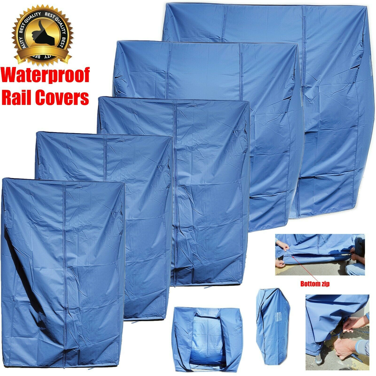 New Super Quality Clothes Garment Rail Protective Waterproof Nylon Zipped Cover