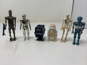 Vintage-Star-Wars-Action-Figure-Lot-of-6-Droids-R4-D4-8D8-Death-Star-Droid