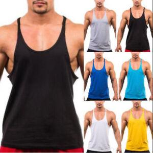 Fashion-Men-Stringer-Bodybuilding-Tank-Top-Singlet-Sleeveless-sports-Vest-Men-039-s