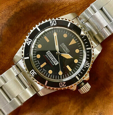 Seiko Diver Mod Vintage Comex Milsub Inspired NH35 Automatic Movement   eBay