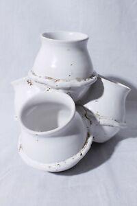 Italy-Peasant-Village-P-V-Mark-Bitossi-72240-Pottery-4-pot-Vase-Succulent-Pots