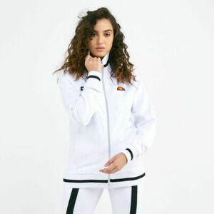 Ellesse-Womens-Track-Top-Jacket-Retro-Arianna-Full-Zip-White-8UK-New