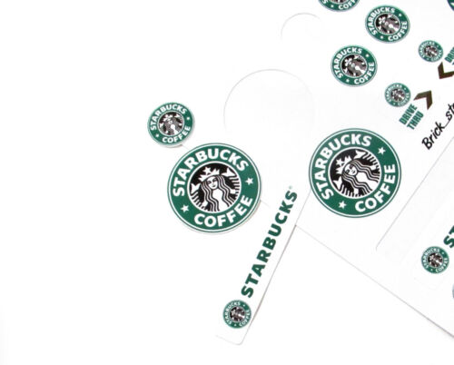STICKERS for CUSTOM LEGO Starbucks BUILDS Etc Toys 3438 McDonald size