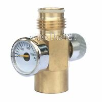 Paintball Inner Thread Co2 Tank On/off Valve With 1500 Psi Gauge