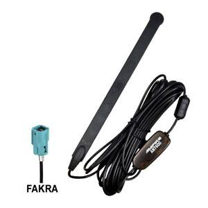 Ampire-ANT600-DVB-T-DAB-Antenne-Radio-Klebe-wasserdicht-mit-Fakra-Buchse-20dB