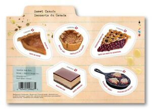 SWEET-CANADA-2019-RECIPE-CAKE-PIE-PASTRIES-CANDY-Souvenir-Sh-of-5-MNH-VF
