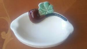 RARE-Arklow-Pottery-Republic-of-Ireland-vintage-pipe-themed-ashtray