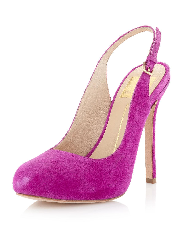 Dolce Vita Bambi Slingback Pump - Magenta Heels - Size 7.5