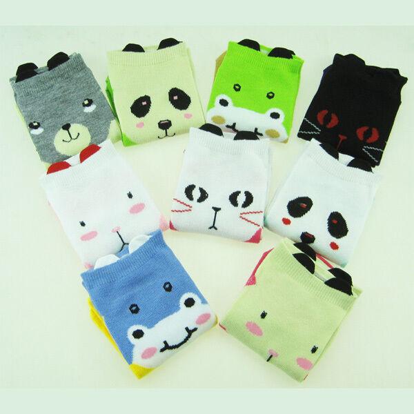 Ladies Funny Novelty Ankle Socks Girls Animal Character Kawaii Cartoon Socks