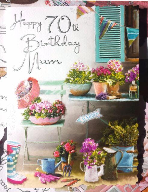 Happy 70th Birthday Mum 70 Card With Lovely Words Ebay