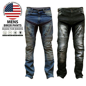 Mens-Motorbike-Aramid-Protective-Pants-Stretch-Panel-Motorcycle-Armour-Trousers