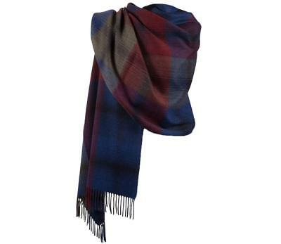 Edinburgh 100/% Lambswool Luxury Scottish Tartan Mini Cape Light Purple Check
