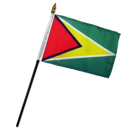 "Guyana 4/""x6/"" Flag Desk Table Stick"